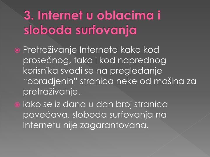 3. Internet u oblacima i sloboda surfovanja