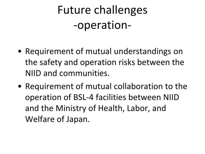 Future challenges