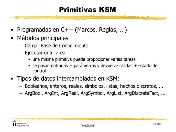 Primitivas KSM