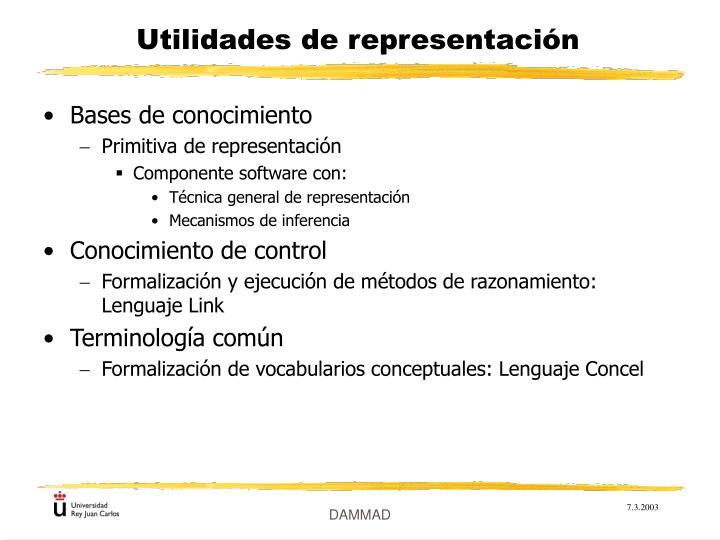 Utilidades de representación