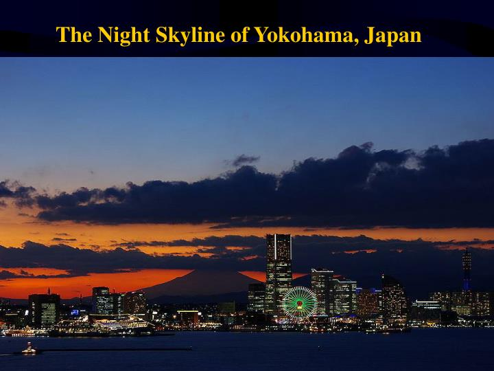The Night Skyline of Yokohama, Japan