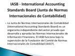 iasb international accounting standards board junta de normas internacionales de contabilidad
