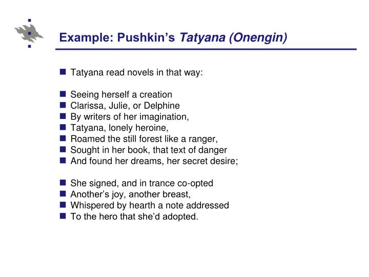 Example: Pushkin's