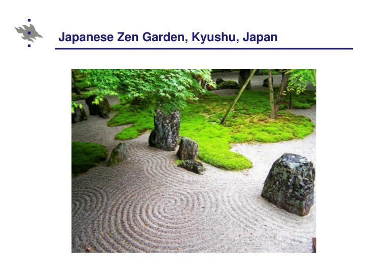 Japanese Zen Garden, Kyushu, Japan