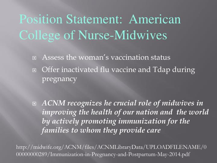 Assess the woman's vaccination status