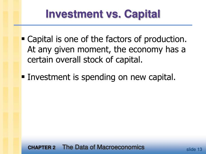 Investment vs. Capital