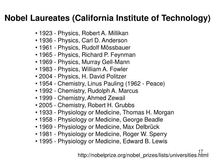 Nobel Laureates (California Institute of Technology)