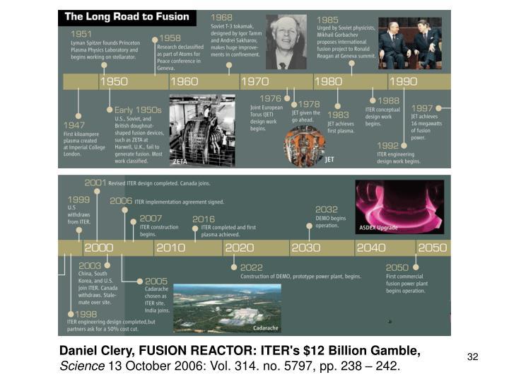 Daniel Clery, FUSION REACTOR: ITER's $12 Billion Gamble,