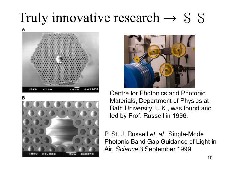 Truly innovative research →