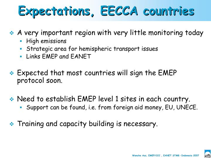Expectations, EECCA countries