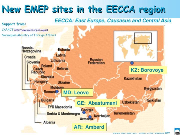 New EMEP sites in the EECCA region