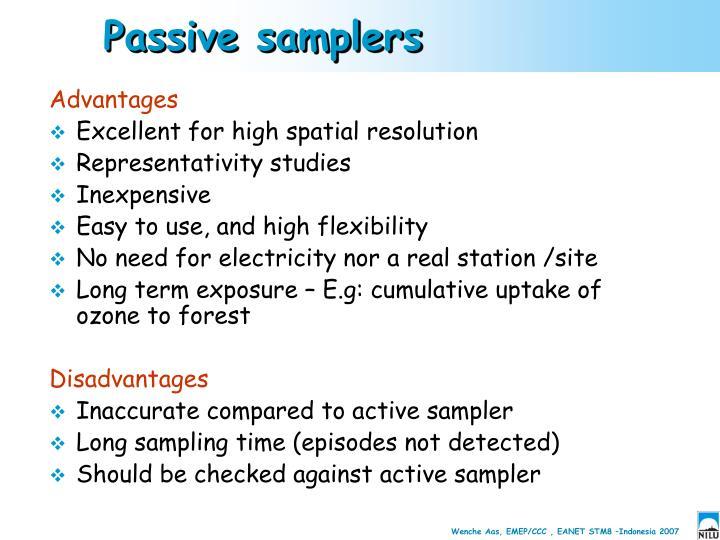 Passive samplers