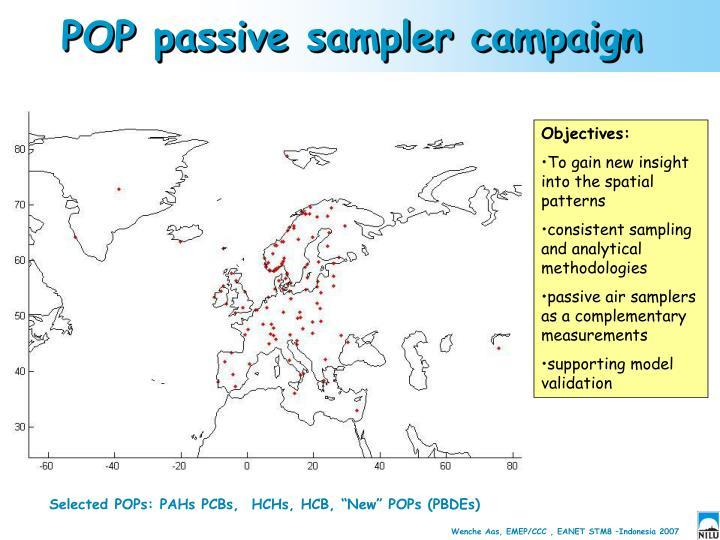 POP passive sampler campaign