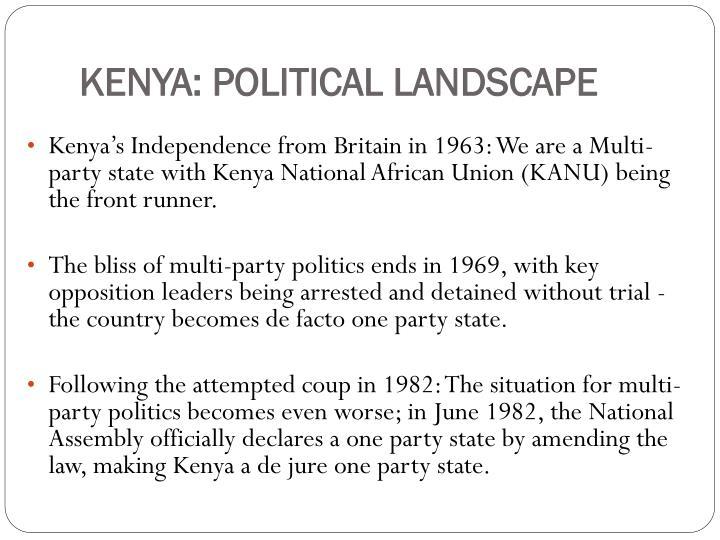 KENYA: POLITICAL LANDSCAPE