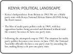 kenya political landscape