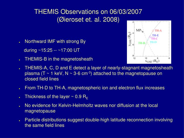 THEMIS Observations on 06/03/2007