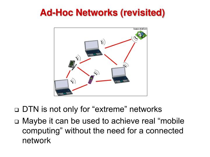 Ad-Hoc Networks (revisited)