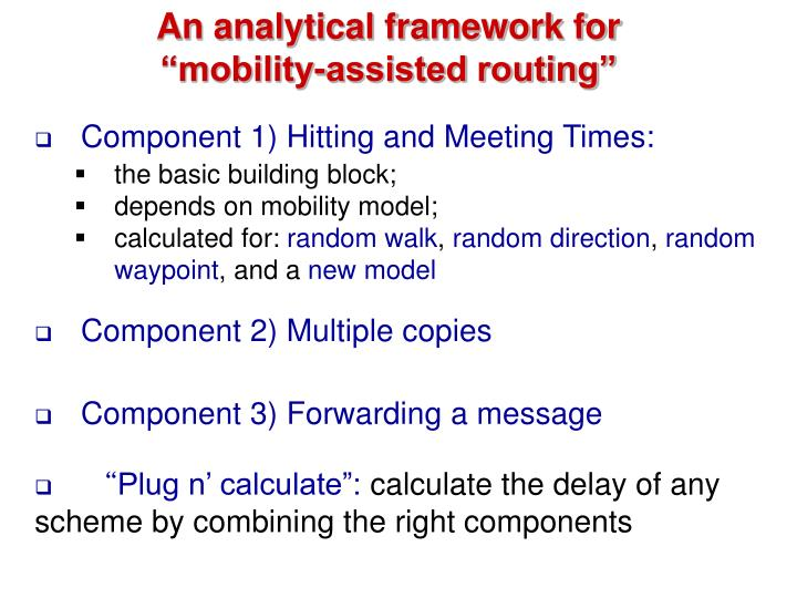 An analytical framework for
