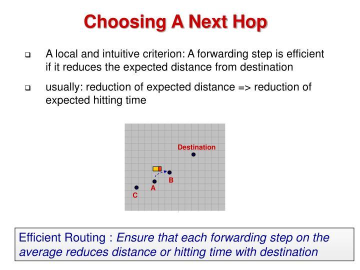 Choosing A Next Hop