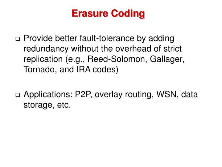 Erasure Coding