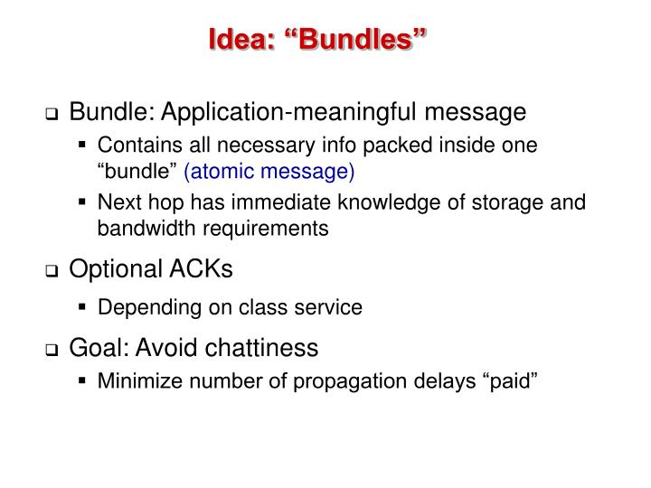 "Idea: ""Bundles"""