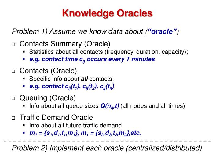 Knowledge Oracles