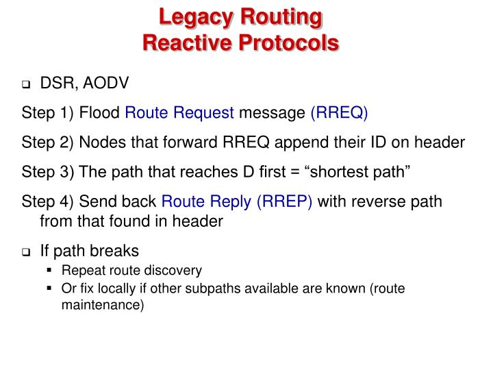 Legacy Routing