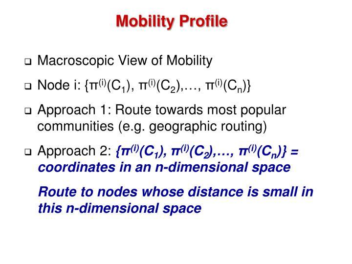 Mobility Profile