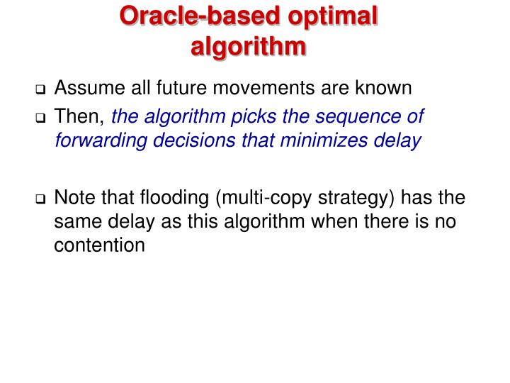 Oracle-based optimal algorithm