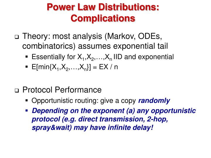 Power Law Distributions: