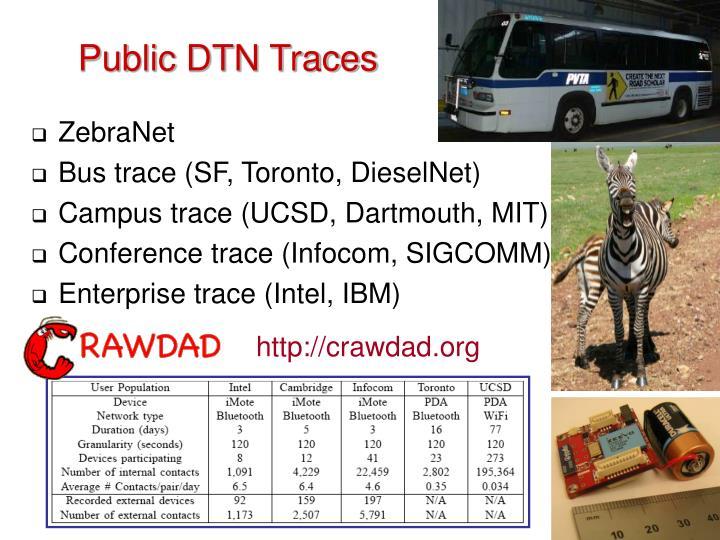 Public DTN Traces