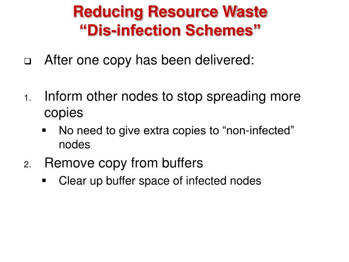 Reducing Resource Waste