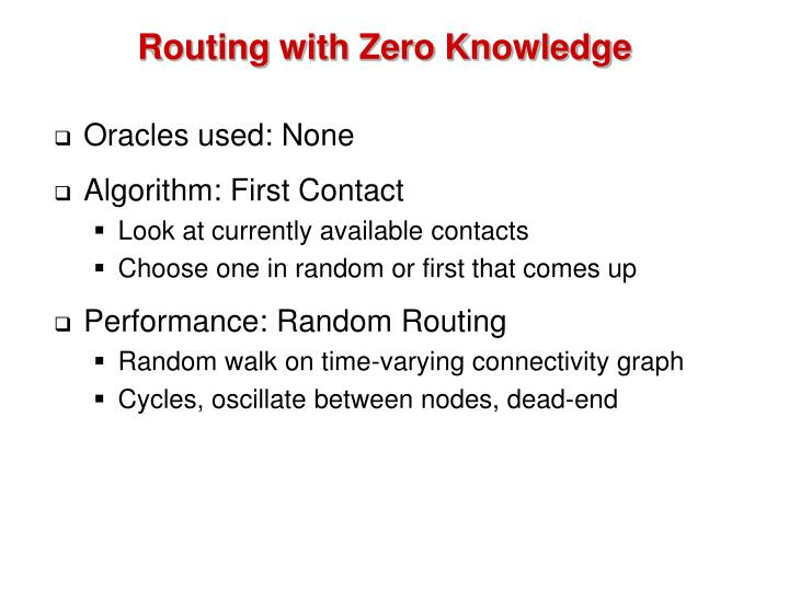 Routing with Zero Knowledge