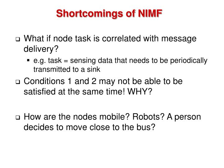 Shortcomings of NIMF