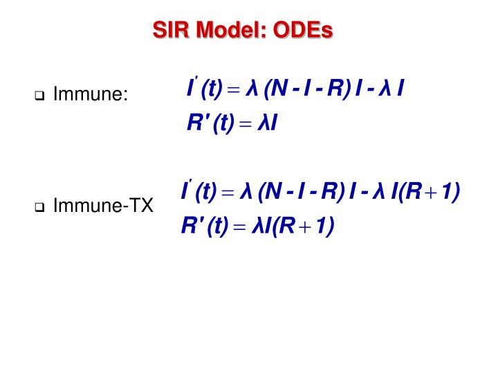 SIR Model: ODEs