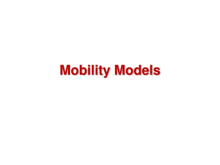 Mobility Models