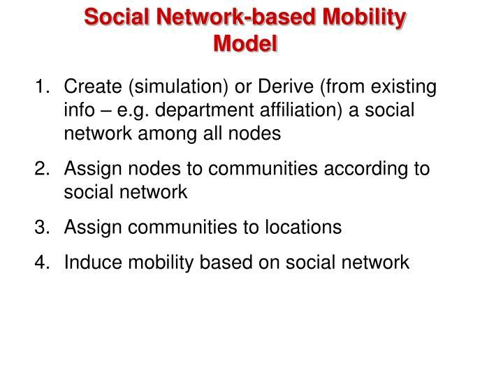 Social Network-based Mobility Model