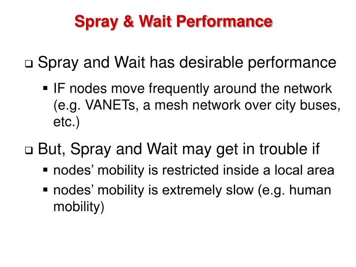 Spray & Wait Performance