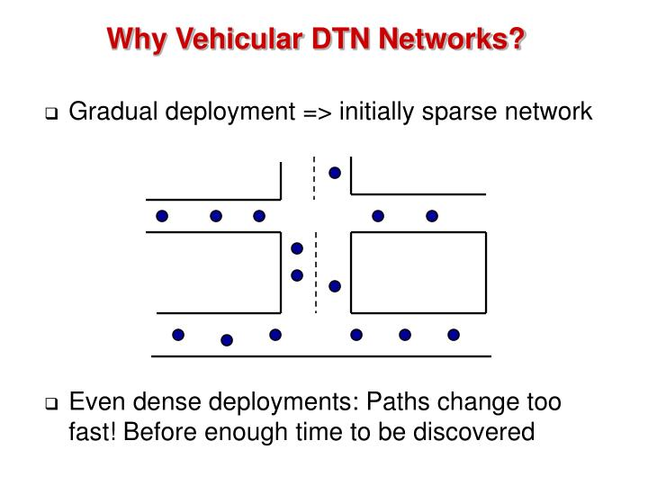 Why Vehicular DTN Networks?