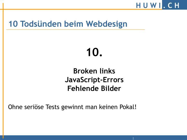 10 Todsünden beim Webdesign