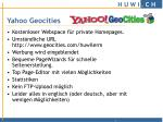yahoo geocities