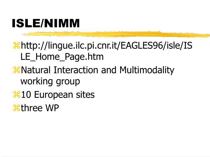 ISLE/NIMM