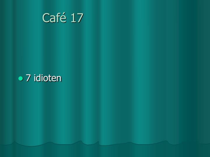 Café 17