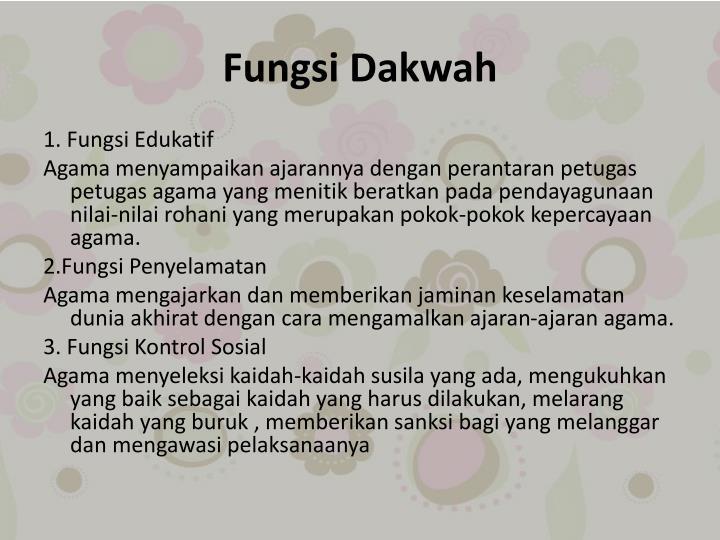Fungsi Dakwah