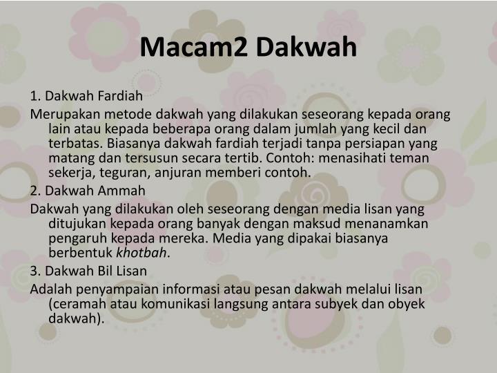 Macam2 Dakwah