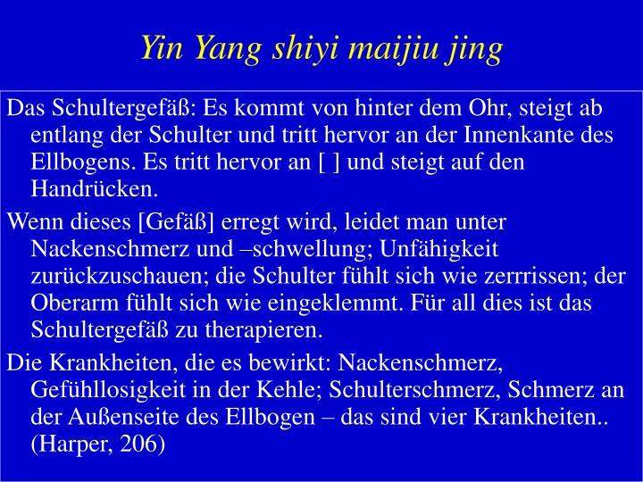 Yin Yang shiyi maijiu jing