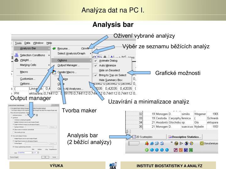 Analysis bar