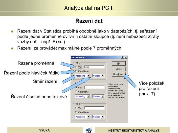 Řazení dat