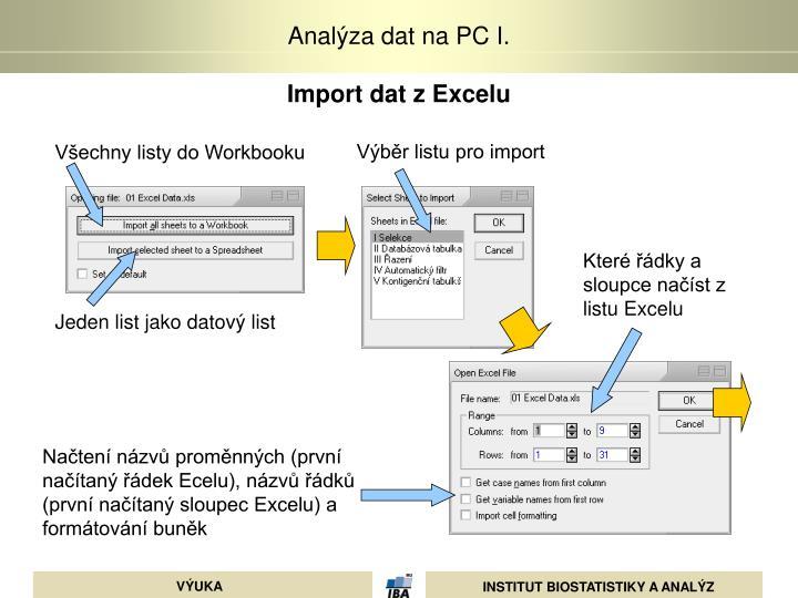 Import dat z Excelu
