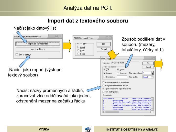 Import dat z textového souboru